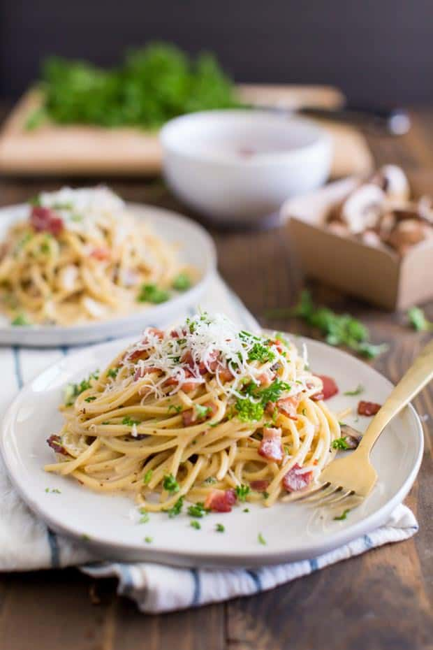 Spaghetti Bacon in Creamy Carbonara