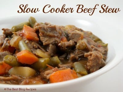 Slow Cooker Beef Stew recipe from {The Best Blog Recipes}