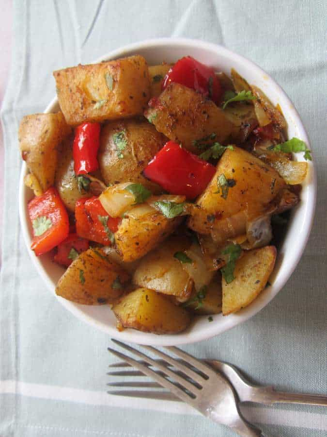 Spicy Oven-Roasted Potatoes Recipe — Dishmaps