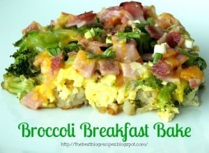 Broccoli Breakfast Bake recipe from {The Best Blog Recipes}