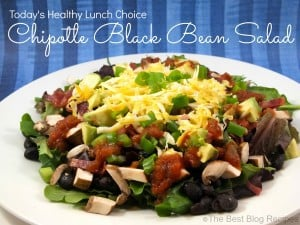 Chipotle Black Bean Salad recipe from The Best Blog Recipes