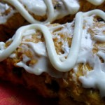Pumpkin Spice Chocolate Chip Scones with Cream Cheese Frosting