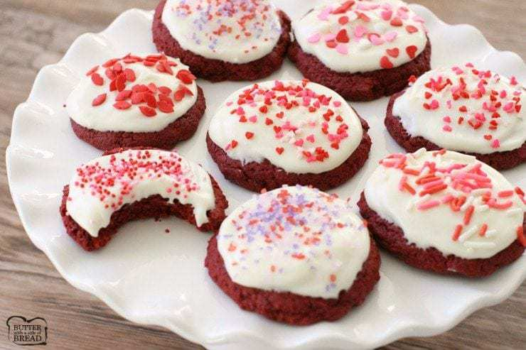 These Red Velvet Valentine Cookies are decadent, rich and super easy to make – everyone will love how fun and flavorful they are!