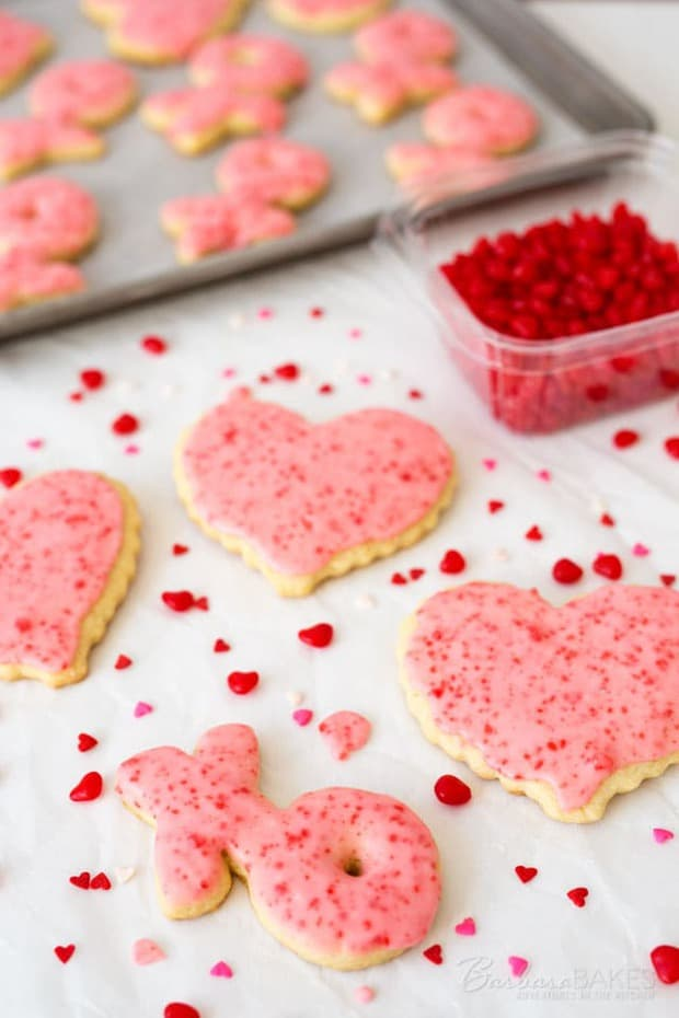 pice up this year's Valentine sugar cookies with cinnamon. These fun Red Hot Sugar Cookies start with a tender sugar cookie base that's iced with a cinnamon frosting loaded with crushed Red Hot candies.