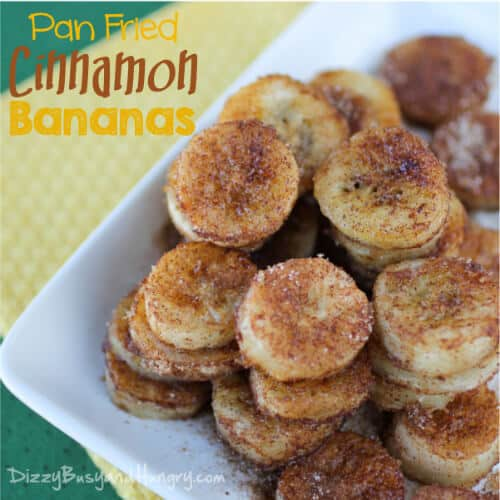 Pan Fried Cinnamon Bananas | The Best Blog Recipes