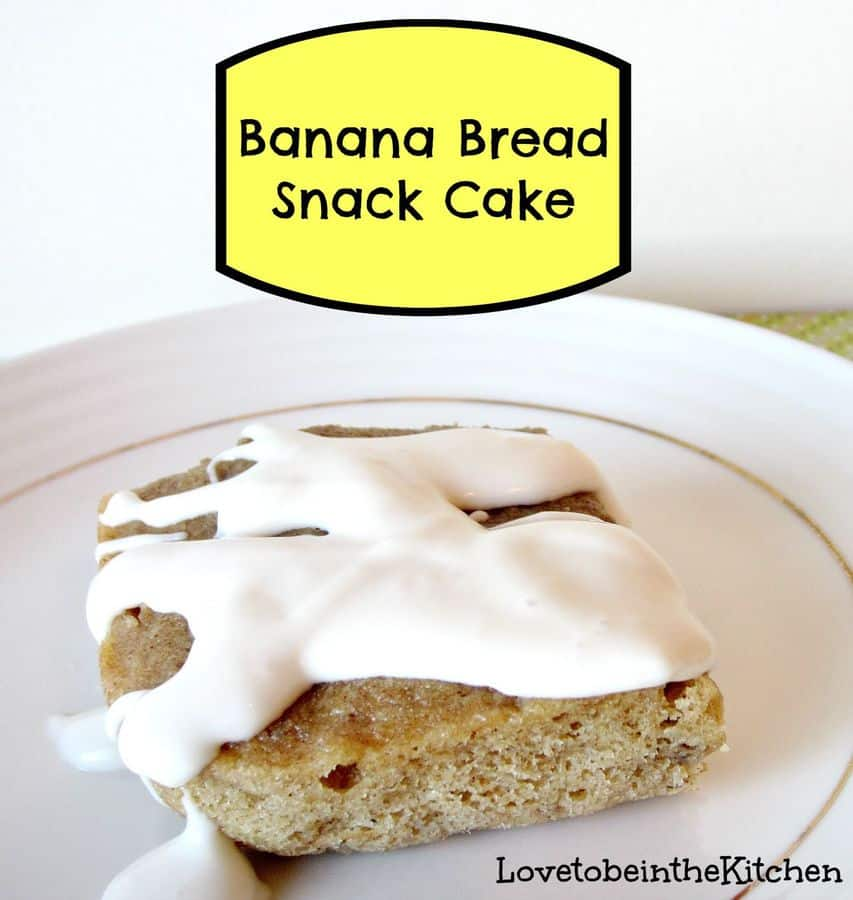 Banana Bread Snack Cake | The Best Blog Recipes