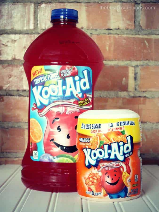 Kool aid drink lip gloss party w creamy orange yogurt for Fun dip mixed drink