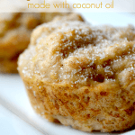 Vegan Banana Muffins made with Coconut Oil