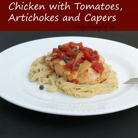 chicken with tomatoes, artichokes and capers