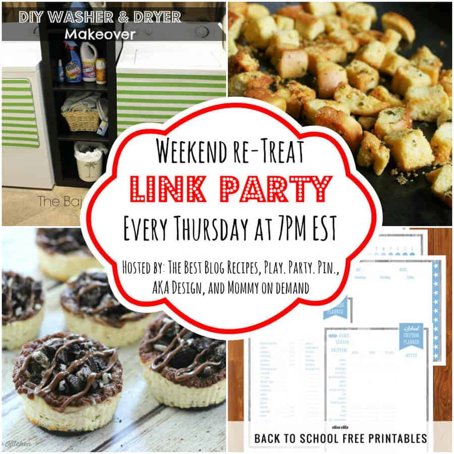 The Weekend re-Treat Link Party #82 | thebestblogrecipes.com