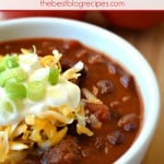 Hot & Spicy Slow Cooker Chili with a Kick! from thebestblogrecipes.com