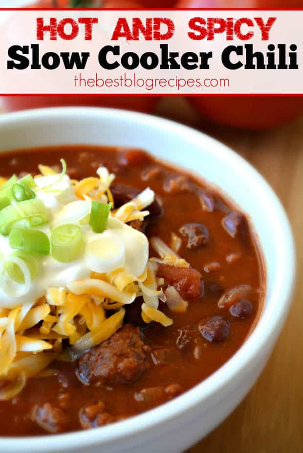 Spicy Slow-Cooker Beef Chili Recipe — Dishmaps