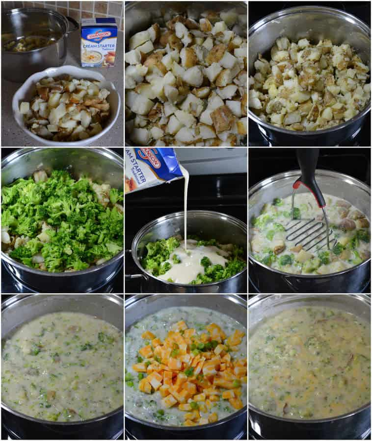 Loaded Cheesy Broccoli Potato Soup   thebestblogrecipes.com