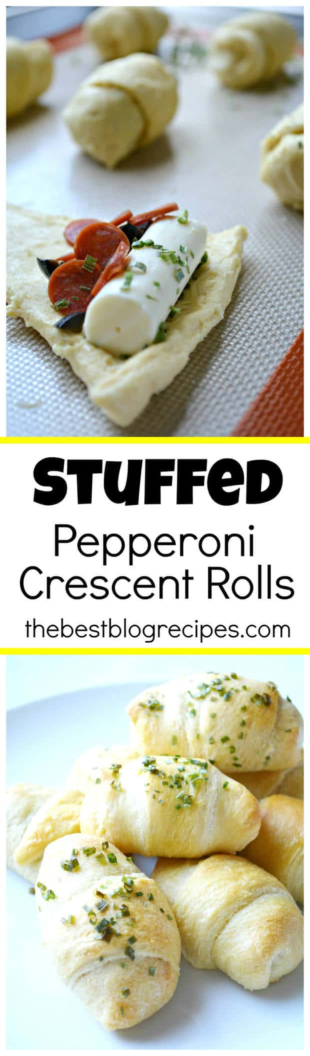This Stuffed Pepperoni Pizza Rolls recipe is so easy to make, saves you money when you make this instead of getting pizza delivery and the best part is the whole family will love them!