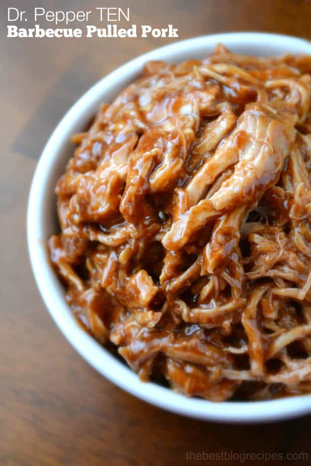 Dr. Pepper TEN Barbecue Pulled Pork from thebestblogrecipes.com #drinkTEN #ad