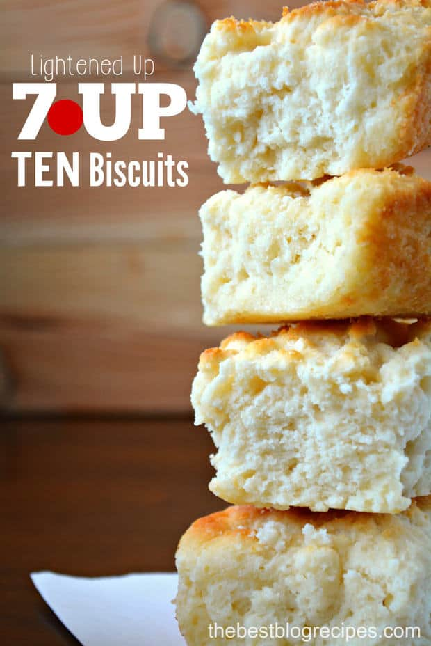 Lightened Up 7UP TEN Biscuits from thebestblogrecipes.com #drinkTEN #ad