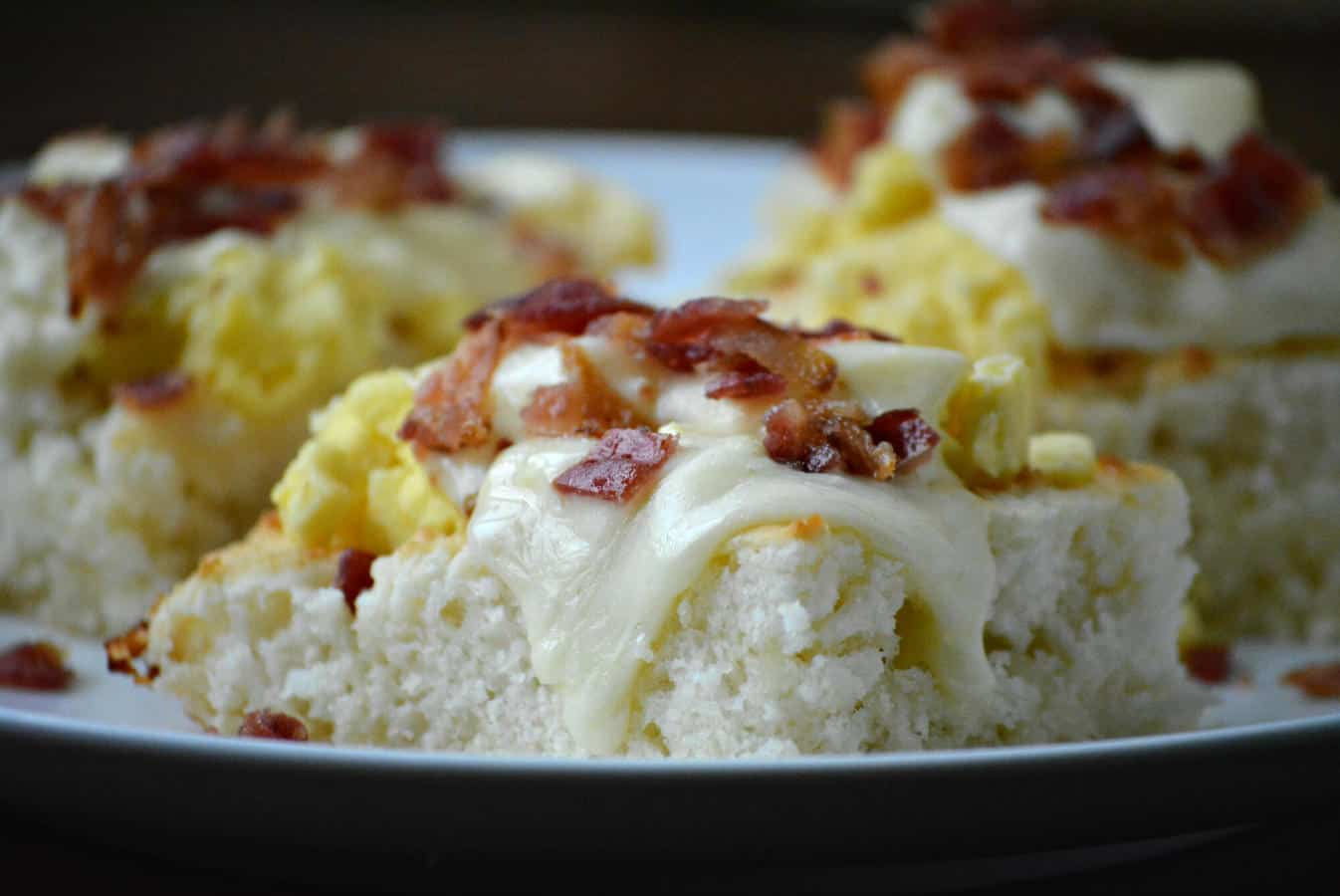 Havarti Cheese Breakfast Biscuit Stacks