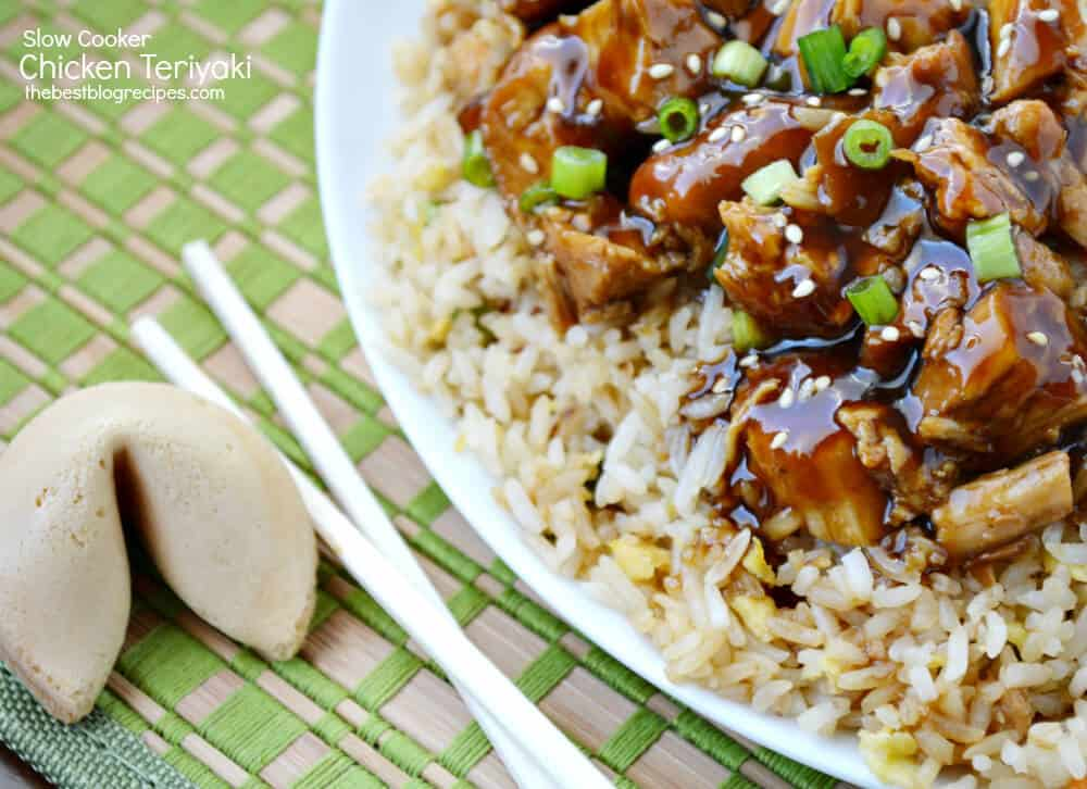 Slow Cooker Chicken Teriyaki recipe from thebestblogrecipes.com