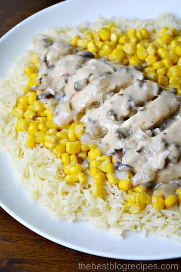 Slow Cooker Creamy Mushroom Fiesta Ranch Chicken is so easy to make and the whole family will love it!