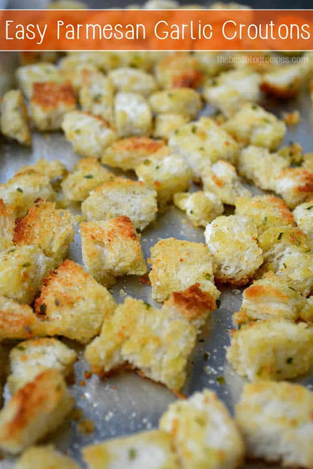 Garlic Herbed Croutons..