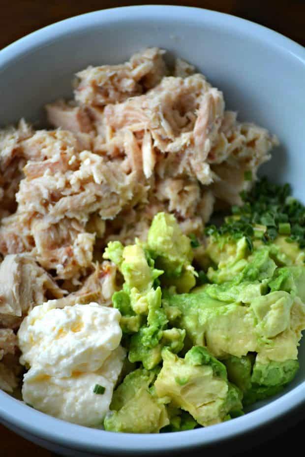 Tuna Avocado Salad Sandwich