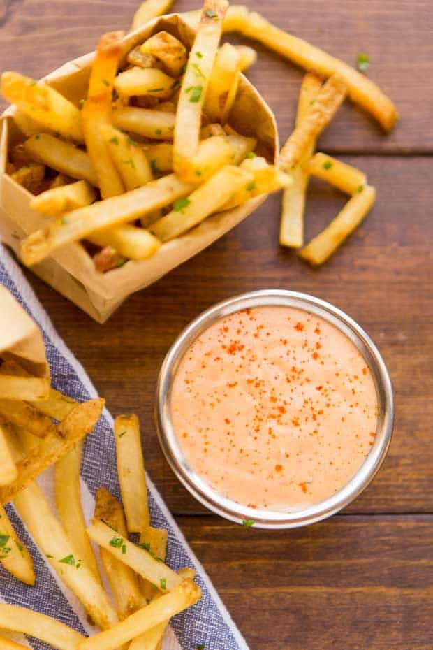 Fries with Homemade Recipe for Fry Sauce in Cup