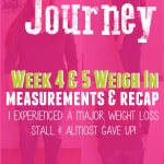 My Weight Loss Journey Week 4 & 5 Weigh In, Measurements and Recap