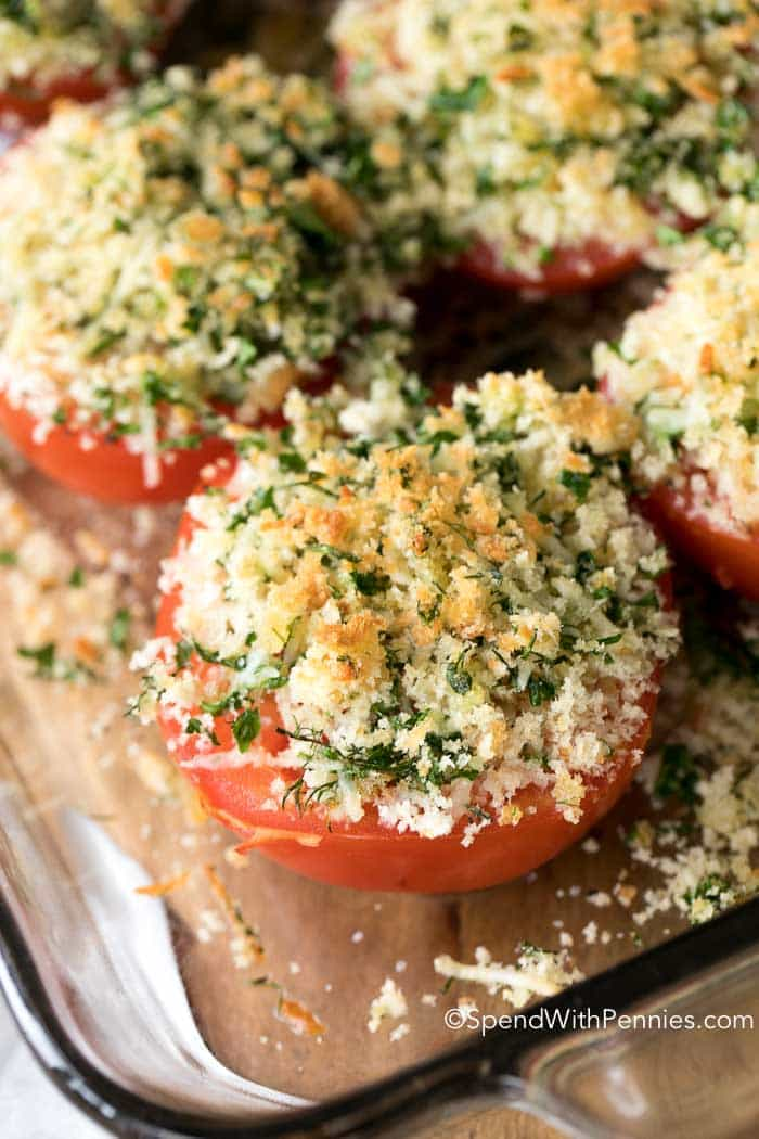 PARMESAN OVEN ROASTED TOMATOES