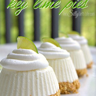 These Individual Frozen Key Lime Pies are the perfect sized treat to serve up at your next family gathering! | Featured on The Best Blog Recipes