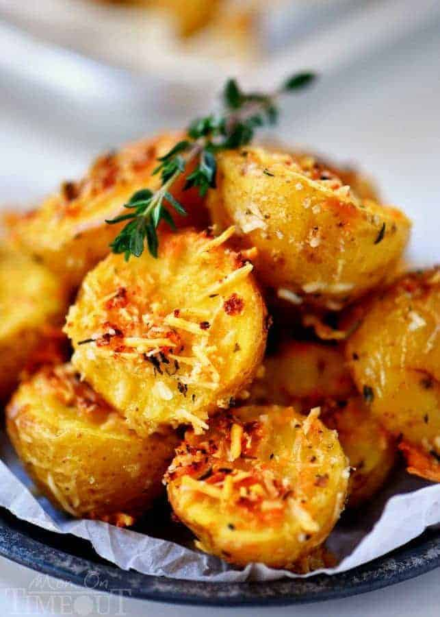 OVEN ROASTED HERB AND GARLIC PARMESAN POTATOES