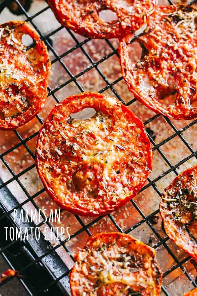Parmesan Tomato Chips Recipe
