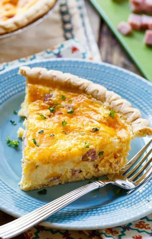 Easy Ham and Cheese Quiche is a rich and cheesy quiche that can be eaten for breakfast, lunch, or dinner. It's perfect for using up leftover Easter ham.