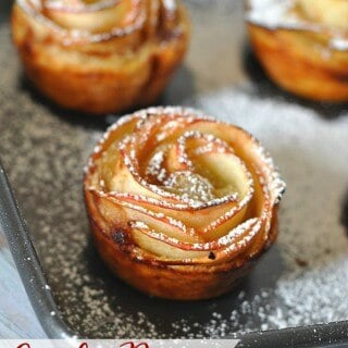 Aren't these gorgeous?! These Apple Rose Pastries are simpler to make than you might think and can easily be made in the morning for a special brunch! | Featured on The Best Blog Recipes
