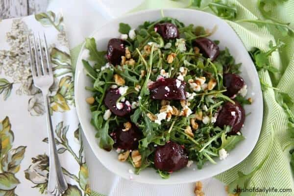 ... Beet Salad with Arugula, Goat Cheese and Walnuts a try. So delicious
