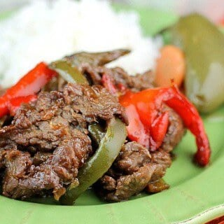 The next time you want to make a delicious Mexican Dinner make sure you try this Carne Asada Marinade made with a mix of seasonings and red & green bell peppers! | Featured on The Best Blog Recipes