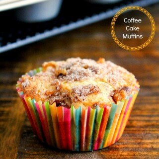 If you love coffee cake then you're definitely going to fall in love with these warm and delicious Coffee Cake Muffins! | Featured on The Best Blog Recipes