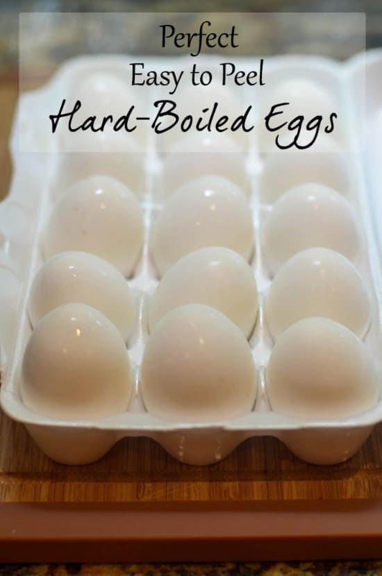 Some simple tips to help you make perfect easy to peel hard-boiled eggs every time!