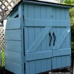 Don't be afraid to tackle a DIY Project - This Mini Shed Project is really doable and affordable! | Featured on The Best Blog Recipes