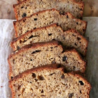 "Love banana bread? Then you might to try this fun ""adult"" twist - Banana Bread with Bourbon Sultanas. 