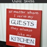 This Kitchen Quote Board is adorable and much simple to make than you might think! | The Best Blog Recipes Contributor