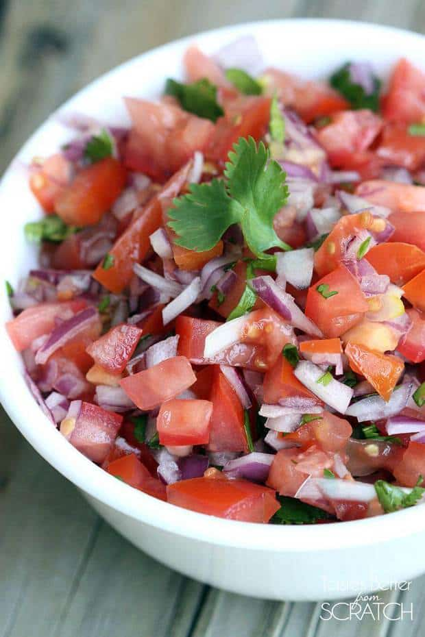 Who loves Pico de Gallo?! We do and it is so easy to make a homemade ...