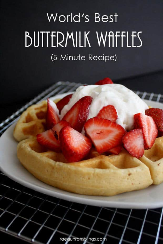 Buttermilk Waffle Recipe are barely crisp on the outside and soft ...