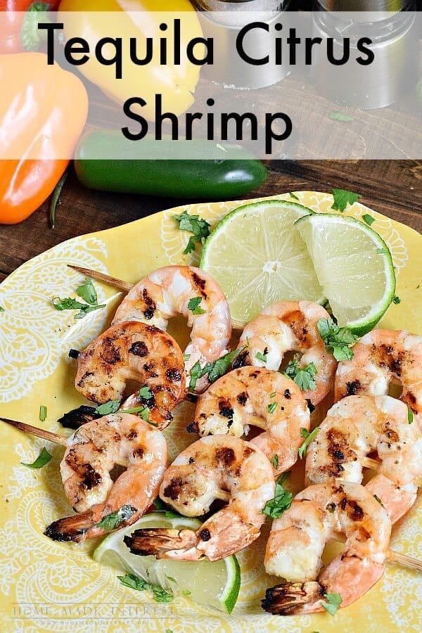 Who is excited for grilling weather?! Check out these Tequila Citrus Shrimp Kebabs that are perfect for a warm summer night and the grill! | Featured on The Best Blog Recipes