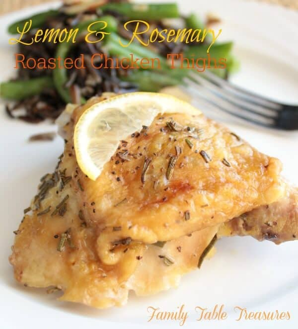 This Lemon and Rosemary Chicken Thighs recipe is a delicious way to make a dinner that your family will love! | Featured on The Best Blog Recipes