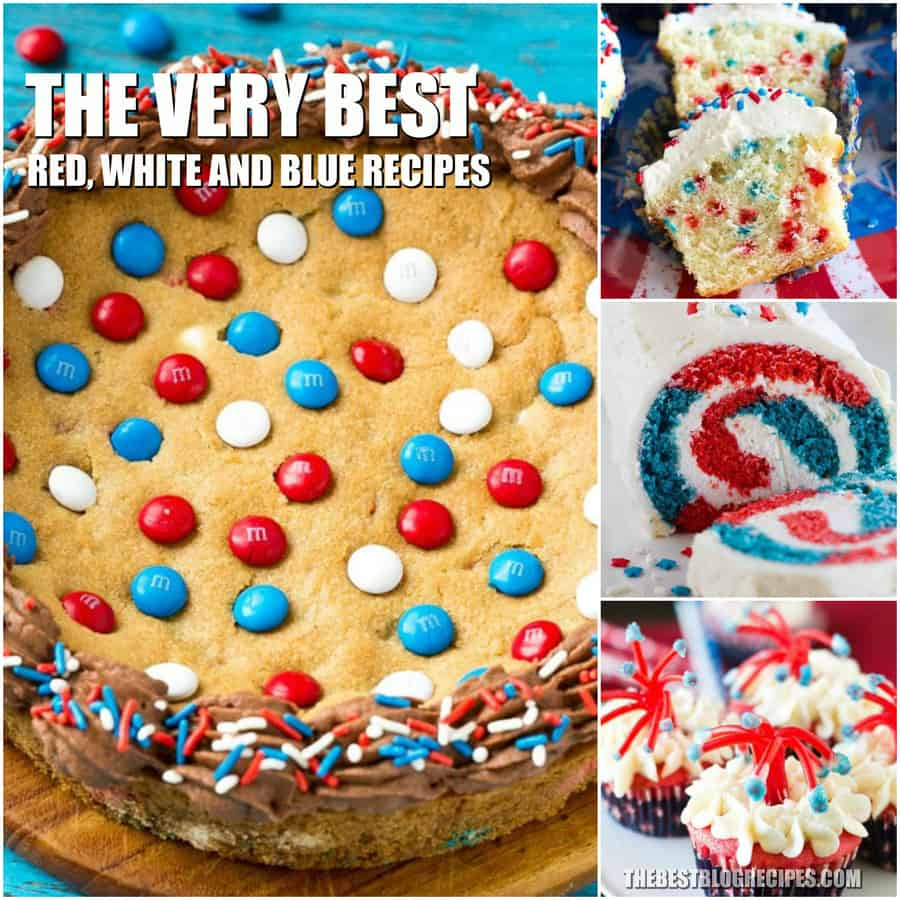 Patriotic Red, White, and Blue Desserts