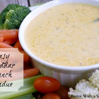 Easy Cheddar Ranch Fondue Recipe