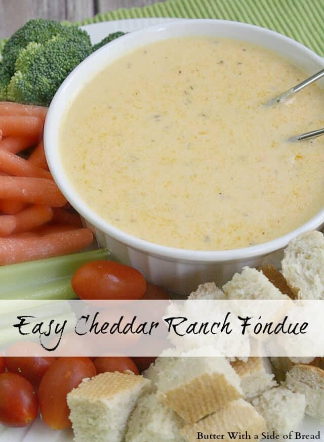 Easy Cheddar Ranch Fondue