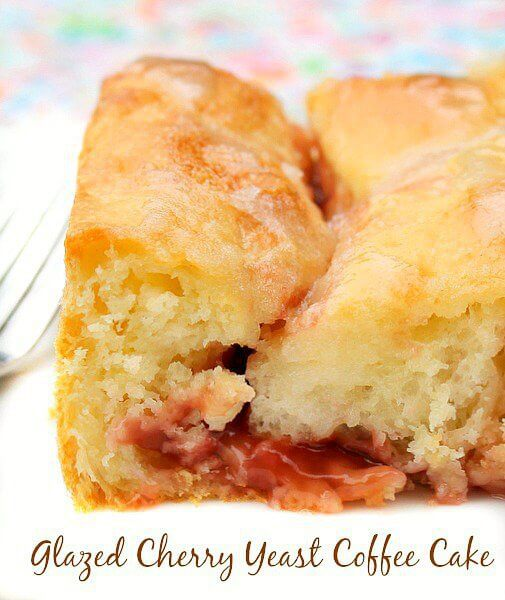 have you cooked much with yeast this glazed cherry yeast coffee cake ...