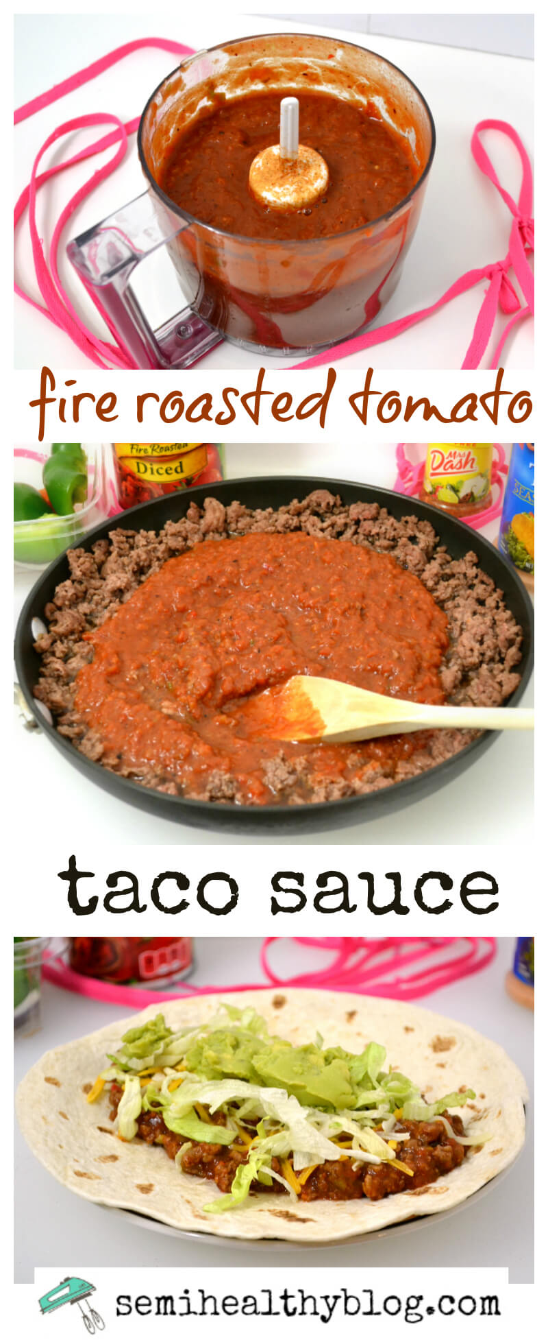 Want to spice up your dinners? Try this Fire Roasted Tomato Taco Sauce. It perfect for lots of Mexican style dishes. | Featured on The Best Blog Recipes