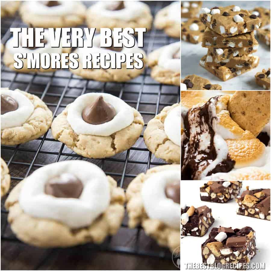 The Best S'mores Recipes will bring the campfire treat you know and love to your table. You will not be able to get enough of these treats!